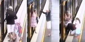 Na imagem o momento em que a família está prestes a entrar no trem.