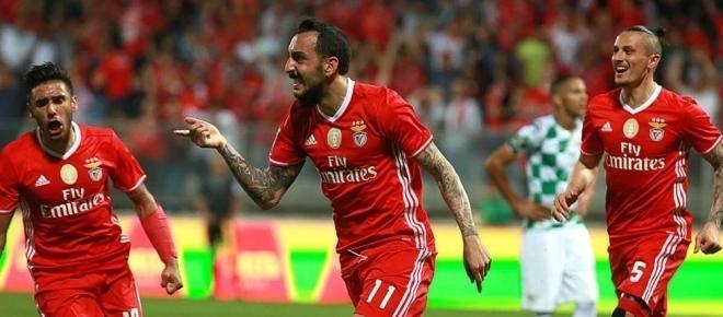 SL Benfica, 3 - Marítimo, 0: Vitória construída na primeira parte