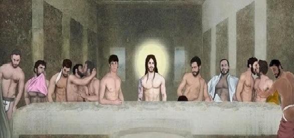 A nova versão do quadro Santa Ceia que tem gerado muita polêmica