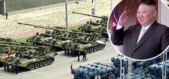 Demonstrație de forță la Phenian pe fondul escaladării tensiunilor cu SUA - Foto: KCNA