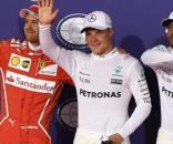 Valtteri Bottas y Lewis Hamilton en primera fila para el GP de Bahrein