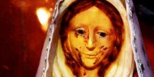 Virgem chora lágrimas de sangue - Google