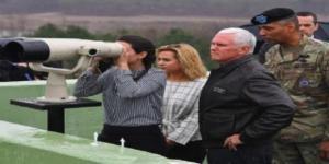 Mike Pence en visite à la frontière entre les deux Corées