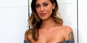 La bella showgirl argentina Belen Rodriguez si confessa a Simona Ventura