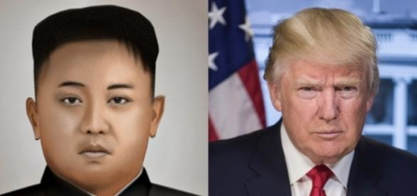 North Korean leader Kim Jong Un and U.S. President Donald J. Trump are seen in a composite photo (Photo: P388388, U.S. government/Wikimedia Commons)