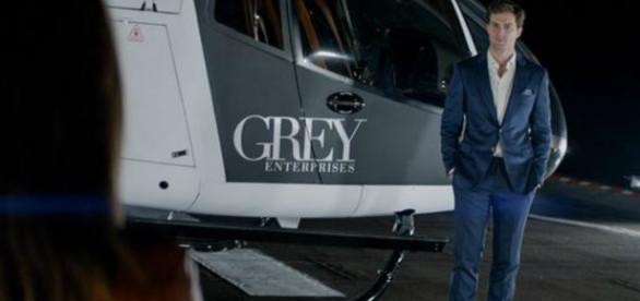 O personagem Christian Grey, vivido pelo ator Jamie Dornan