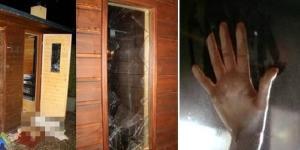 Nas imagens é possível ver que as duas tentaram quebrar os vidros do lugar, mas infelizmente não tiveram sucesso.