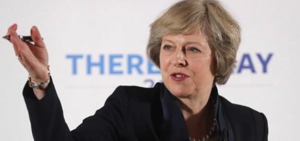 Immagine della premier inglese Theresa May