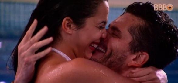 O casal protagonizou cenas escaldantes