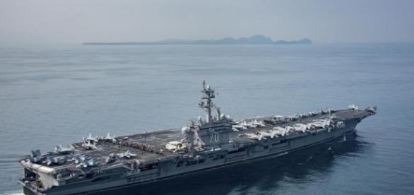 Remember that carrier strike force steaming toward Korea? It wasn ... - bostonglobe.com