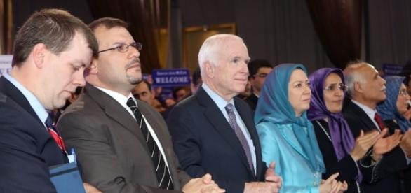 Sen. McCain with Maryam Rajavi. Credit: Ali Safavi