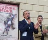 Piefrancesco Diliberto, in arte Pif, con il sindaco di Erice, Giacomo Tranchida