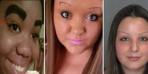 Desenhos de sobrancelhas que não deram certo