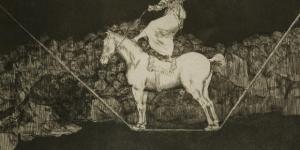 """Francisco Goya y Lucientes """"Una reina del circ"""", 1819 acquatinta e lavis, 245 x 350 mm"""