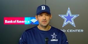 Tony Romo Dallas Cowboys / Photo via NFL, Youtube