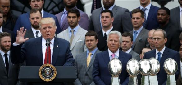 Trump recibió a los Pats, campeones del Super Bowl 51
