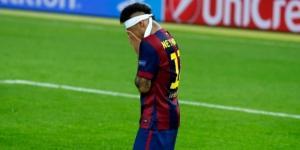Neymar Jr. durante la celebración de la Champions League 2014 ganada por el F.C. Barcelona