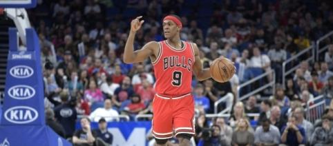 Rajon Rondo injured his thumb - (Image credit: fanragsports.com)
