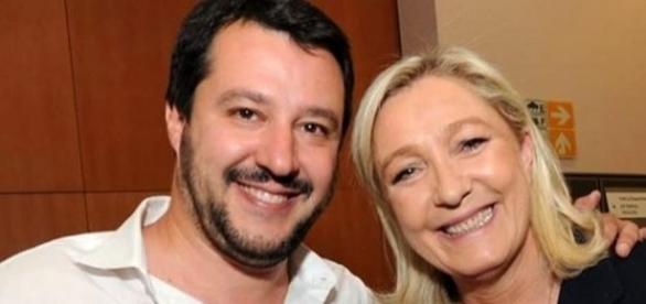 Matteo Salvini e Marine Le Pen uniti contro immigrazione e terrorismo