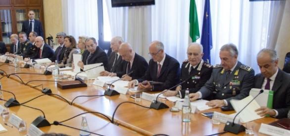 Un momento della Conferenza delle autorità di pubblica sicurezza (fonte ministero dell'Interno)