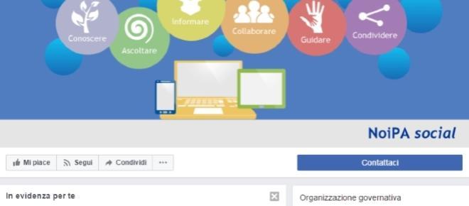 Noipa apre una pagina su Facebook: filo diretto con i cittadini