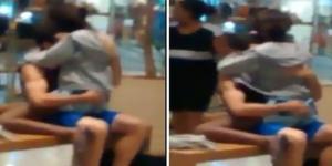 Casal resolveu fazer sexo em público em pleno shopping movimentado no RJ.
