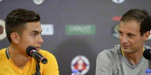Dybala e Allegri in conferenza stampa