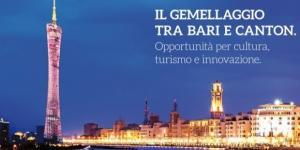 Gemellaggio tra Bari e Canton, la cultura come strumento di sviluppo