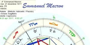 le carte astrologiche di nascita dei protagonisti delle elezioni francesi 2017 Macron