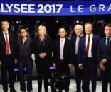 Foto di gruppo per i candidati alle presidenziali di Francia 2017