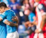 Francisco Silva festejando el segundo gol de Cruz Azul