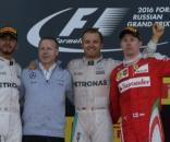 Il podio del Gran Premio di Russia edizione 2016