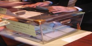 Le 9 mars 2008, une urne pour l'élection municipale à Cognac