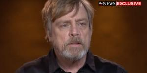 Mark Hamill durante l'intervista per ABC News