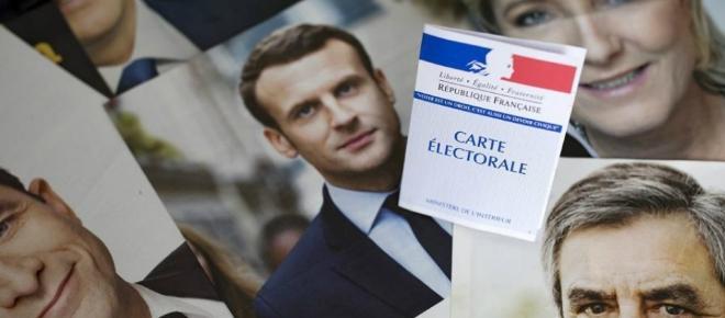 Marine Le Pen y Emmanuel Macron lideran los sondeos a pie de urna