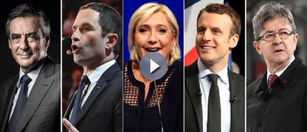 French election: Polls open with Macron and Le Pen leading