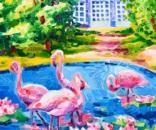Athos Faccincani-Poesia di fenicotteri rosa a Villa Invernizzi