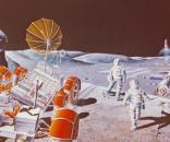 Future lunar base (courtesy NASA)
