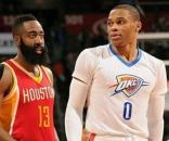 James Harden e Russell Westbrook (via- Getty Images)