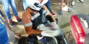 Vídeo mostra resgate de bebê encontrado dentro de uma mala.