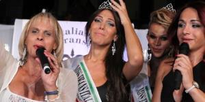 alessia al momento dell'elezione di Miss Italia Trans nel 2014