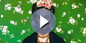 A pintora mexicana Frida Kahlo.