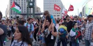 Potsdamer Platz, Berlin, Demo gegen Gaza 2014 -via Youtube