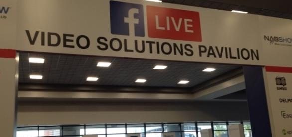 Facebook had a more visible presence at this year's NAB Show in Las Vegas. (Photo via M. Albertson)