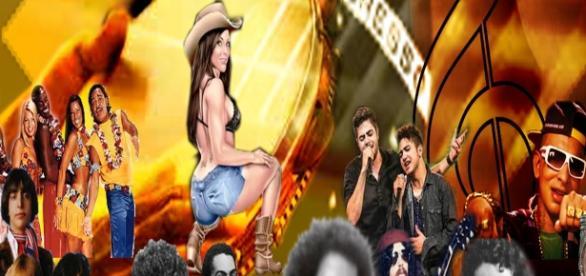 Os icones da música brasileira de ontem e hoje