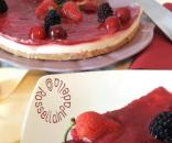 Cheesecake al mascarpone e marmellata di fragole e ciliegie l ... - pinterest.com