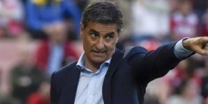 Míchel, durante un partido con el Málaga esta temporada