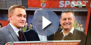 Bernardo (à esquerda) apoiou Luís Filipe Vieira nas ultimas eleições do Benfica