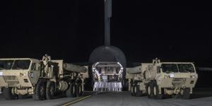 Photo taken showing THAAD equipment arriving at Osanhttps://www.rt.com/news/386140-korea-thaad-deployment-clashes/.