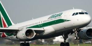 Alitalia, in fase di atterraggio o decollo?